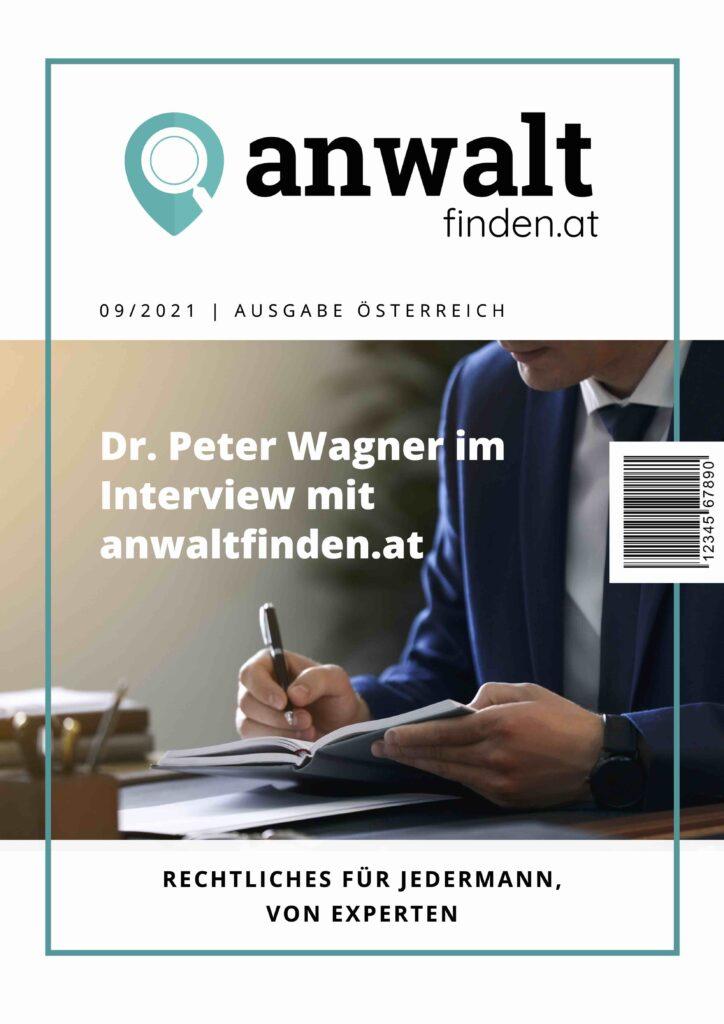 Interview anwaltfinden.at mit Dr. Peter Wagner
